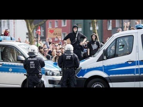 Autonome und Polizei: Auseinandersetzungen bei Neonaz ...