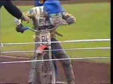 speedway - The action packed incident filled Heat 19 of the Speedway World Final. Egon Muller needed to win or come second to win the title. He gated poorly and ... wel...