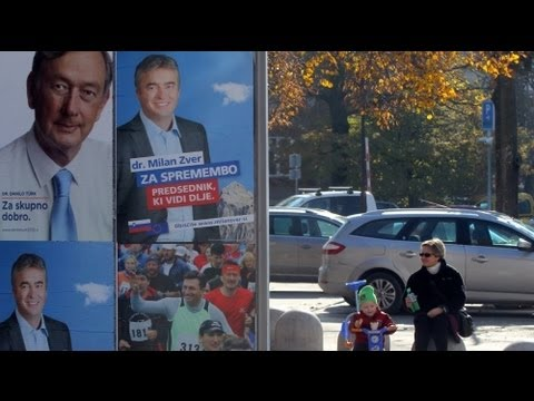 Recession-hit Slovenians vote in presidential election