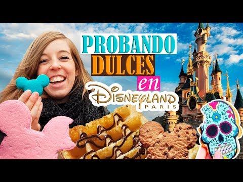 Probando Dulces de Disneyland París