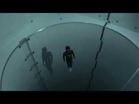 French Freediver Jumps to the Lowest Depths of the World  s Deepest Swimming Pool on a Single
