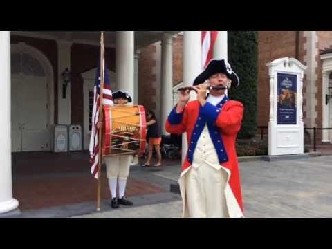 Spirit of America Fife & Drum show at Epcot's American Adventure