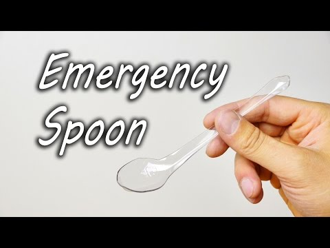 How to Make an Emergency Spoon Out of an Empty Plastic