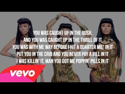 Nicki Minaj - Bed Of Lies Ft. Skylar Grey (lyrics - Video) [clean Version]