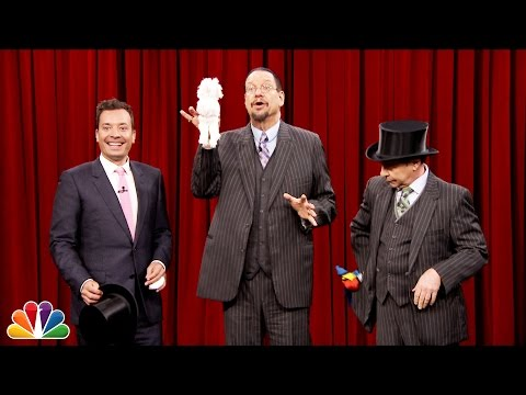 Penn and Teller Show Jimmy How to Pull a Rabbit Out of a Hat