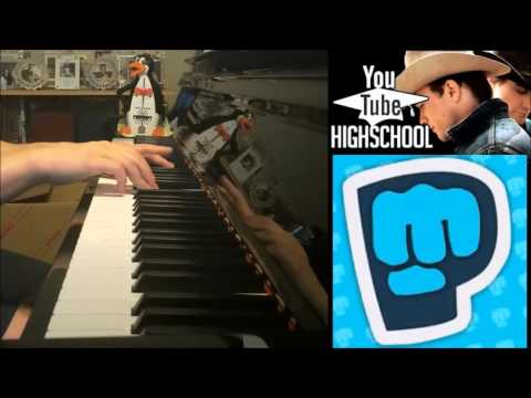Pewdiepie - THE BACKDOOR - YouTube Highschool (Piano Cover By Amosdoll)