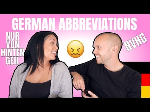 American Tries to Guess German Abbreviations