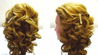 Укладка волос на бигуди.Свадебная,вечерняя прическа на длинные волосы.Styling my hair in curlers