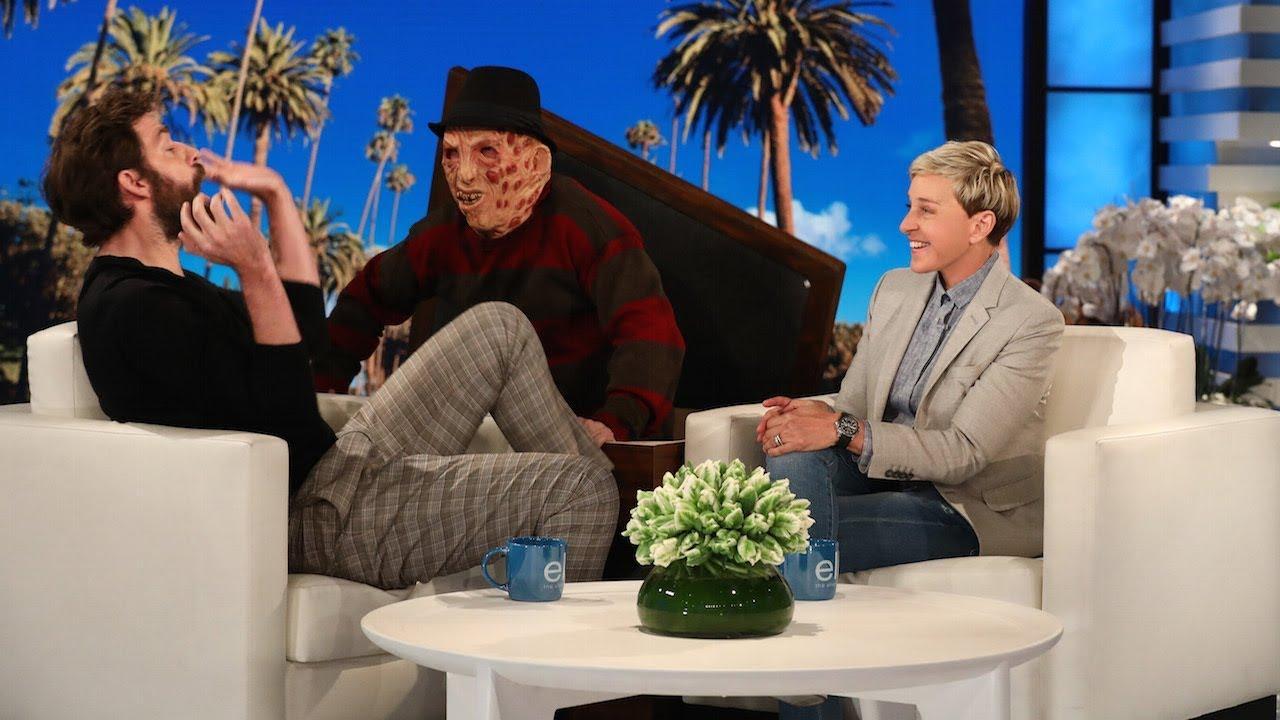John Krasinski Gets a Scare on Ellen