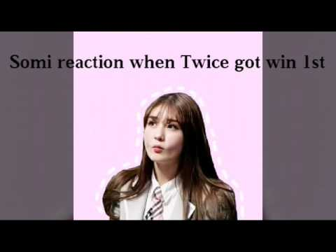 SOMI REACTION TO TWICE WIN 1ST @MCOUNTDOWN