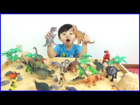 Fun Playtime and Unboxing A Box Of  Animal Planet Dinosaurs Toys from ToysRus