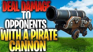 Deal damage to opponents with a Pirate Cannon: The EASIEST Way To Do 100 Damage With A Pirate Cannon