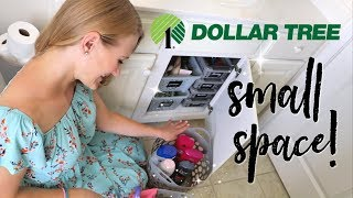 SMALL BATHROOM ORGANIZATION 💚 100% DOLLAR TREE!