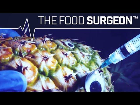 The Food Surgeon Lobotomizing a Pineapple