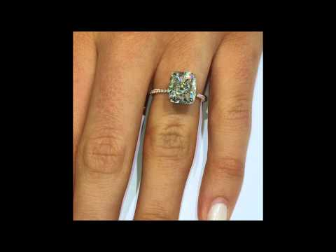 5 carat Cushion Diamond Engagement Ring in Rose Gold Setting