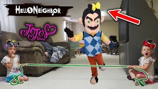 Hello Neighbor in Real Life! JoJo Bow Scavenger Hunt! Pranked for Stealing our JoJo Siwa Bows!!!