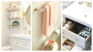 Small Guest Bathroom Makeover & Tour | Before And After