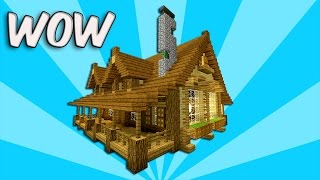 MINECRAFT: How to build wooden house - Tutorial | Best mansion 2016 ( Rustic house ) PS4, MCPE, XBOX