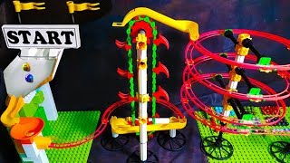 Video MARBLE RUN with AUTOMATIC ELEVATOR - Elimination Race Mini Tournament - Marble Games MP3, 3GP, MP4, WEBM, AVI, FLV Desember 2018