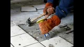 HOW TO REMOVE TILE THE EASY WAY - Be Your Own Handyman @ Home