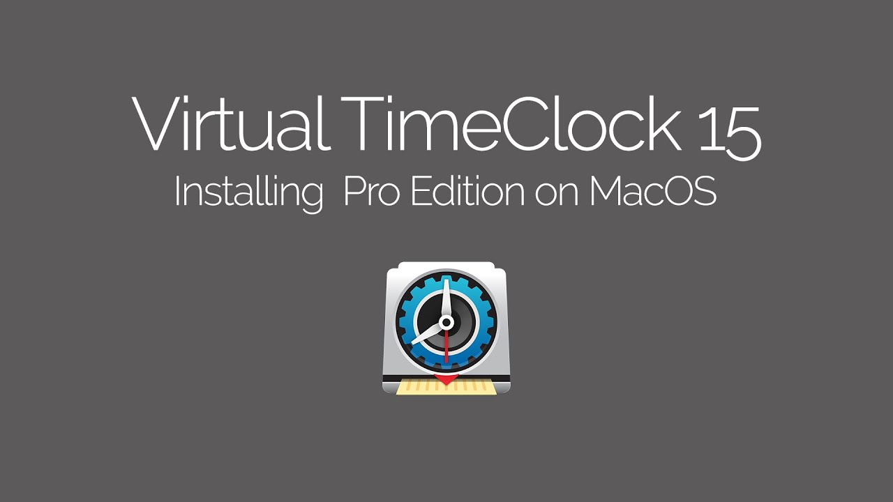 Installing Virtual TimeClock Pro on Mac
