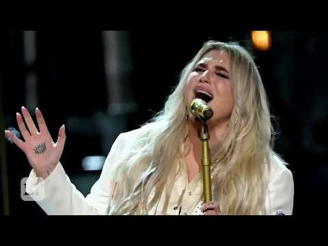 Kesha Fights Back Tears Performing 'Praying' at the GRAMMY Awards