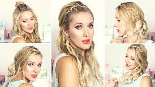 красивые прически на каждый день для средних волос видео
