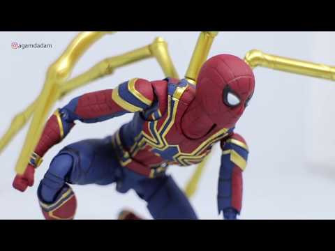 Review #37 - SHF IRON SPIDER MAN INFINITY WAR UNBOXING (BAHASA)