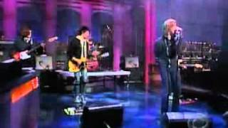 the strokes performing take it or leave it live on the letterman show