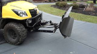 6. UTV Hitchworks - SnowMax snow plow system on the Cushman 1600 XD