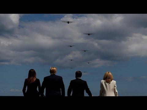 Μακρόν, Μέι και Τραμπ στη Νορμανδία