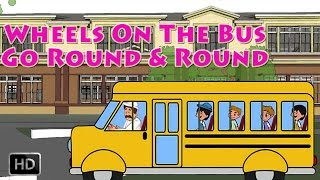 Wheels On The Bus Go Round And Round - Karaoke[Sing Along] - Nursery Rhymes