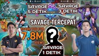 Video REKOR SAVAGE 1 Detik.!! Inilah  8 SAVAGE Tercepat Sepanjang Sejarah Mobile Legends MP3, 3GP, MP4, WEBM, AVI, FLV Desember 2018