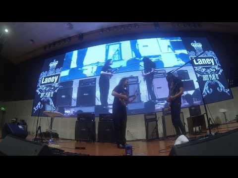 Alex Hutchings & Andry Muhammad Jam Session At LANEY Asia Clinic Tour 2013 Surabaya