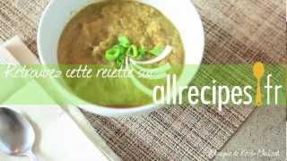 Soupe de poireaux et chou-fleur