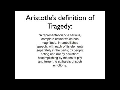 Poetics - The first of a 2-part series on Aristotle's Poetics, which talks about the history of poetry and drama and ends with Aristotle's definition of a tragedy. Par...
