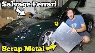 Video Rebuilding a TOTALED Ferrari's Undercarriage Damage Using $25 in SCRAP Aluminum! MP3, 3GP, MP4, WEBM, AVI, FLV Juli 2019