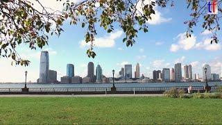 Jersey City (NJ) United States  city photo : SKYLINE of Jersey City, NJ & Hudson River & Boats, USA, 2014.