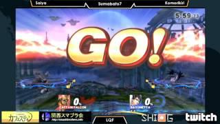 Sumabato7: LQF Saiya (Captain Falcon) vs. Komorikiri (Bayonetta)