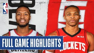 TRAIL BLAZERS at ROCKETS   FULL GAME HIGHLIGHTS   January 15, 2020