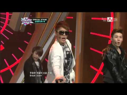 breakdown - 2013년 1월 31일 목요일 슈퍼주니어M_Break Down Break Down by Super Junior-M@Mcountdown 2013.1.31 Wanna know more about your favorite K-pop artist? - Subscribe http://www...