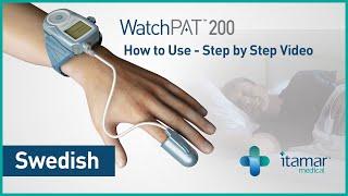 WatchPAT patient instruction video - Swedish