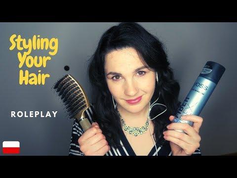 ASMR po polsku Robię Ci Fryzurę | Styling Your Hair #Roleplay