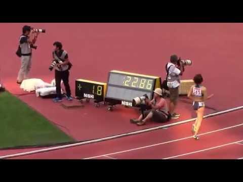 【女子200m】日本新記録が誕生!福島千里が22秒88でリオ内定!