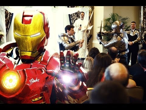 Wedding Is Interrupted by Batman Iron Man and So Many Other
