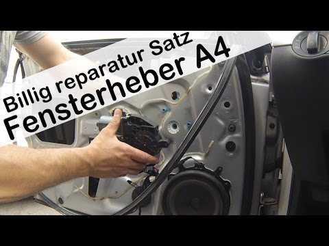 Audi A4 8E B6 2008 Fensterheber erneuern / Audi A4 Window Regulator Replacement