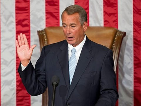 Boehner Re-elected Speaker of the House