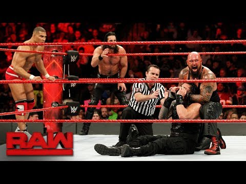 Roman Reigns, Seth Rollins & Jason Jordan vs. The Bálor Club: Raw, Jan. 8, 2018
