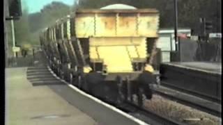Midgham United Kingdom  city photos gallery : BR Class 56 56029 Tarmac stone train Midgham 1986