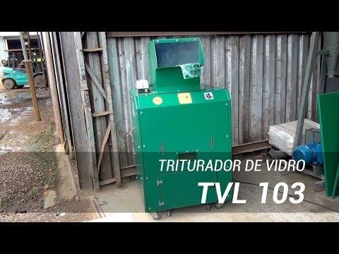 Triturador de vidro - TVL 103 Equipamento para a reciclagem do vidro